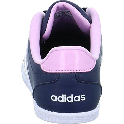 adidas Vs Coneo QT W, Scarpe da Ginnastica Basse Donna Blu (Collegiate Navy/footwear White/frost Pink)