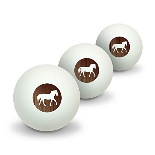 Pferd Silhouette Cowboy Western Neuheit Tisch Tennis Ping Pong Ball 3Pack (Cowboy 3 Silhouette)