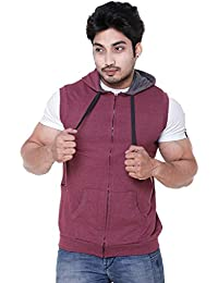 EASY 2 WEAR Mens Sleeveless Jacket Hooded (Size S to 4XL)