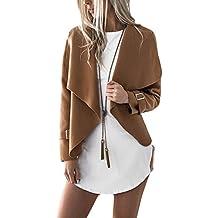 399dcf59594f Yacun Femmes Casual Waterfall Lapel Veste Coat Blazer Manteau
