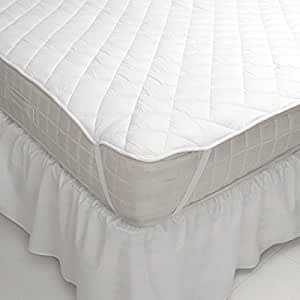 Linens Limited Polycotton Hollowfibre Mattress Topper, 2.5 Cm, Double