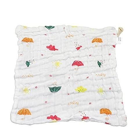 Naturel Bio Coton doux bébé foulards 6couches Coton salive Serviette Gants de Toilette Serviettes Lingettes pour bébé nouveau-né tout-petits bébé Peaux Sensibles visage
