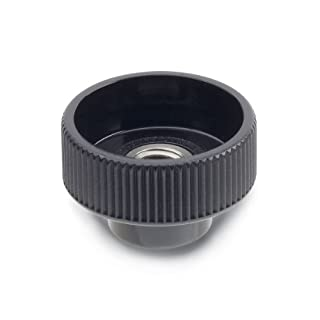 JW Winco Nylon Plastic Hollow Nut with Tapped Through Stainless Steel Insert, Knurled, Threaded Hole, M6 x 1.0 Thread Size x 10.5mm Thread Depth, 24mm Head Diameter (Pack of 1)