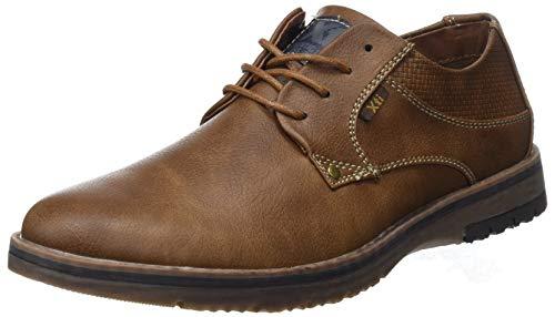 XTI 48180, Zapatos Cordones Oxford Hombre, Marrón