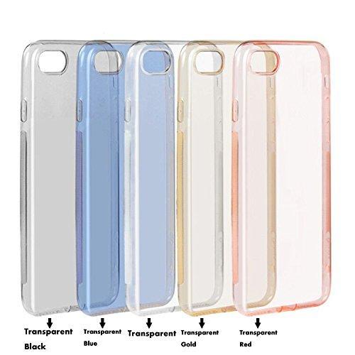 IPhone 7 Hülle Bumper , Liquid Crystal Ultra Dünn Clear Transparent Soft Handy hülle TPU Silikon Perfekte Passform für IPhone 7, Transparent schwarz Transparent