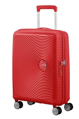 American Tourister Soundbox Spinner Small Expandable Bagaglio A Mano, 55 cm, 41 Liters, Rosso (Coral Red)