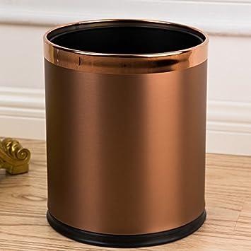 Doppel Mülleimer Edelstahl Titanium Europäische Mülleimer Mode ( Farbe : B  ): Amazon.de: Küche U0026 Haushalt