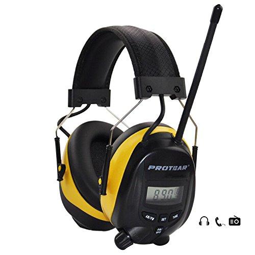 FM / AM Radio Noise Reduction Kopfhörer, Protear Ear Defenders mit Stereokopfhörerbuchse für Aufnahme und Arbeit, NRR 25dB