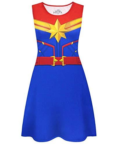 Captain Marvel Damen Superheld Cosplay Kleid Kostüm