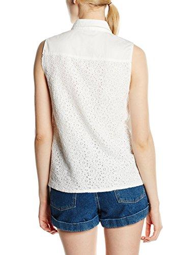 ONLY Damen Top Onljada Lace Dnm Shirt Qyt Weiß (White)