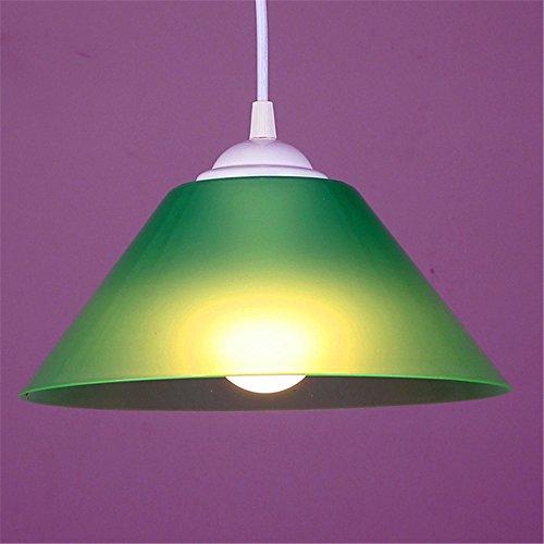 illumination KD Einfache Und Kreative Bar Cafe Restaurant Schlafzimmer Balkon Kronleuchter, Grün 25Cm Pine Cone Fan