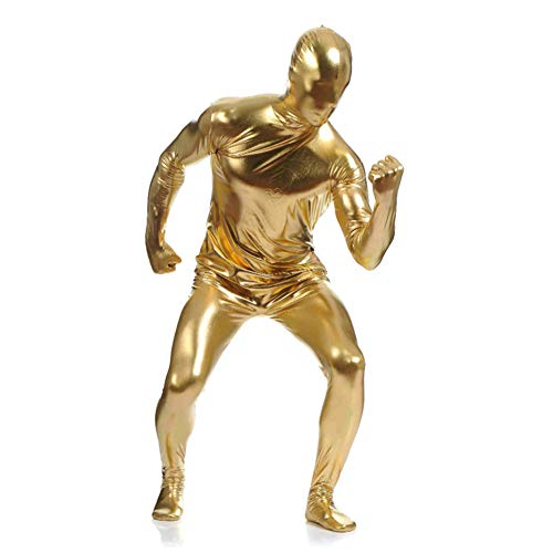 OBEEII Unisex Original Full Body Zentai Spandex Fancy Kleid Lycra Anzug Gold 3XL