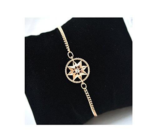 Geschenk zum Valentinstag–jdgemstone Swarovski Element Kristall Frauen Armbänder Rose Gold Silber Armreif verstellbar Scharnier Damen Schmuck Geschenke
