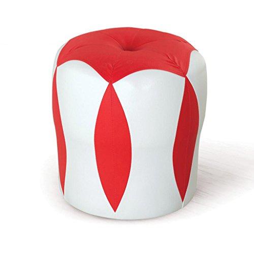 Tabouret de canapé Xuan - Worth Having Tabouret de Fleur Blanc + Rouge Tabouret Bas Changer de Chaussures Tabouret de Maquillage en Cuir pour Enfants Tabouret imperméable à l'eau (33 * 33 * 35cm)