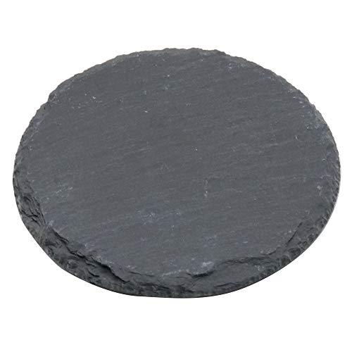 Pizarra para queso, bandeja de piedra sólida, tabla para servir queso y carne para el hogar, restaurante, cafetería, negro, 10x10x1cm