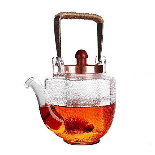 itzebeständige Brau Teekanne Filter Liner Träger Topf Hammer Muster warm Wein Tee-Set, A ()
