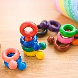 Ultrey 12 Colori 3D Pastelli per Bambini Matita Colorate Penne in Feltro Variopinti Non Tossici Sicuri