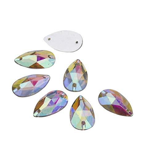 e Nähen auf Strass Flatback perlen Steine nähen kristall Tropfen Harz Perle für DIY Handwerk kostüm ()