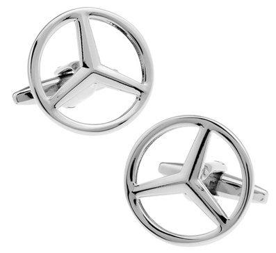 masgemelos Manschettenknöpfe Mercedes Plated Cufflinks