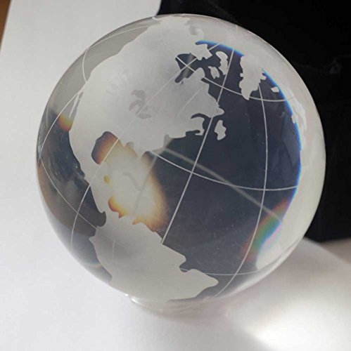 Real Acyrlic Sphere Acrylique 100mm Globe 650g avec Sac en Velour