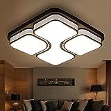 Leohome Einfache Kunst moderne LED Deckenleuchten Schlafzimmer Wohnzimmer plafoniere moderne Lampe deckenleuchten Luminarias Deckenleuchten, schwarz L43xW43cm, dimmbar