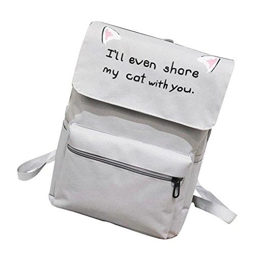 Tote Bag Voyage Sac à Dos Scolaire Cartable Femme,OverDose Mode Sacs Fille Coton Nylon School Bag Backpack