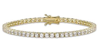 Carissima Gold 9 ct Cubic Zirconia Tennis Bracelet of 19 cm/7.5 inch