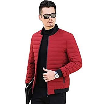 YOONIKK Mens Bomber Jacket Mandarin Collar