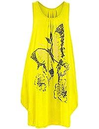 Femme Long Papillon Paillette Top Femmes Tunique Jersey Grande Taille