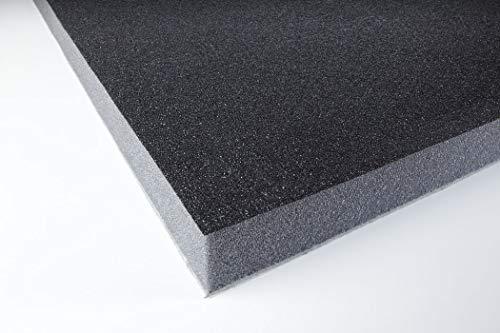 Akustikschaumstoff Schallschutz PU skin 32 selbstklebend mit Schwermatte Schwarz 100 x 50 x 3,2 cm 0,5m2 - Absorber - Schallschutz