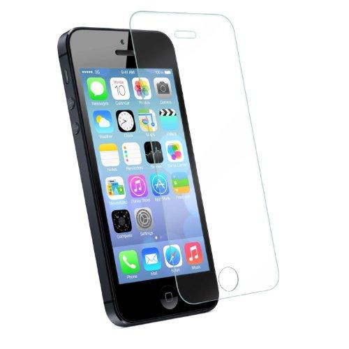 Deet®–Tempered Echtglas Pro Displayschutzfolie für iPhone 44S. Bruchfest, Hohe Transparenz mit abgerundeten Ecken. Retail verpackt mit Anweisungen