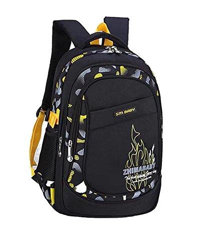 Cieovo Fashion niñas/niños mochila multifuncional mochila escolar mochila para adolescentes bolso para el colegio Outdoor tiempo libre Daypack Gelb Flamme