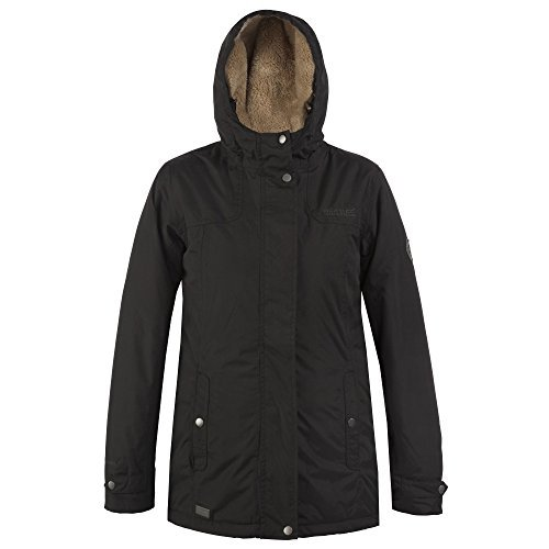 Regatta Ladies Brodiaea Waterproof Jacket RRP £55 Noir (Black)