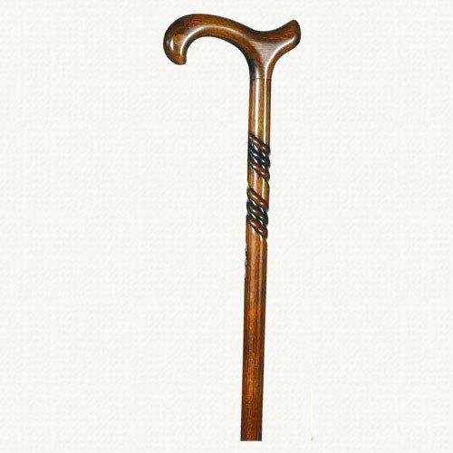Holz-spazierstock Derby-griff Mit (Classic Canes Herren-Spazierstock, aus geschnitztem Holz, mit spiralförmigen Verzierungen und mit Derbygriff)