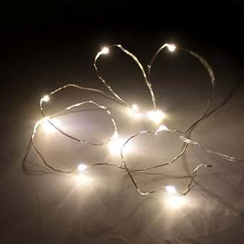 led lichterkette warmwei 1m 10leds f r au en batteriebetrieben beleuchtung. Black Bedroom Furniture Sets. Home Design Ideas