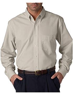 UltraClub camisa de tela Oxford de manga larga para hombre