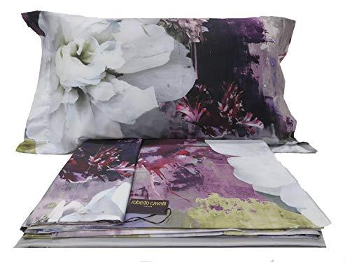 Roberto Cavalli Dark Flower Bettwäsche-Set für Ehebett Col. 002 Fuxia - Cavalli Bettwäsche