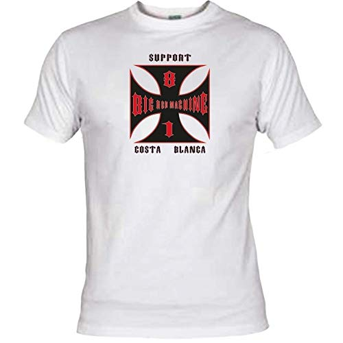 Hells Angels WorldWide Support Store / Big Red Machine World - Hells Angels Cross Costa Weiß T-Shirt Support 81 Big Red, Weiß L