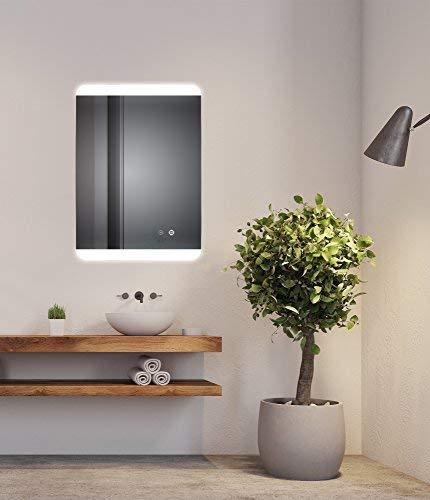 Sogoo® Nueva Generación 18W 60x80 cm, lámpara de espejo Rectangular de baño iluminación...