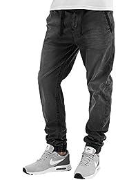 Sky Rebel Schwarze Stoffhose PAVEL | Herren Hose im Chino-Style mit Jogg-Pants Elementen aus Twill