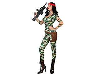 Atosa - Disfraz de Rambo para niña, talla L (M/L) (22936)
