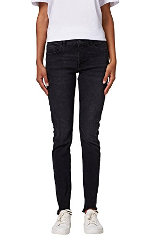 edc by ESPRIT Damen Skinny Jeans 028CC1B011, Schwarz (Black Dark Wash 911), 30/32