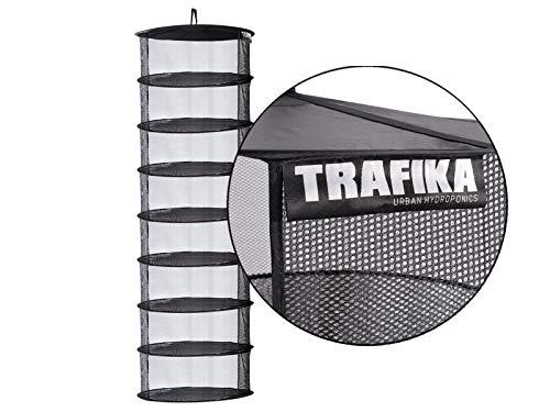 TRAFIKA Malla Secado/Tela Microperforada/8 módulos 55cm diámetro/para Cultivos hidropónicos/Secado...