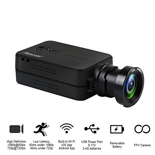 HankerMall RunCam 2 Camera Airsoft Version Gun Camera Scope Cam 35mm Lens  1080P Built-in WiFi iOS/Android APP 850mAh Replaceable Battery HD Action