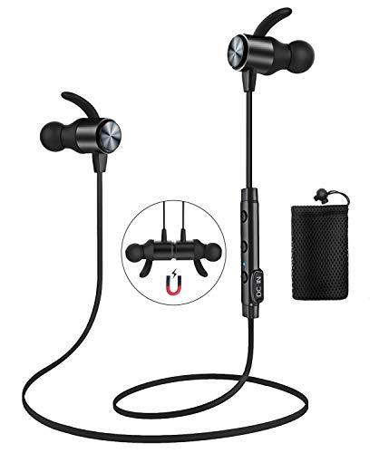 Bluetooth Kopfhörer, ATGOIN Bluetooth 4.1 in ear kopfhörer magnetische Lauf-Kopfhörer schweißsicher Stereo Sport Geräuschunterdrückende wireless Kopfhörer mit Mikrofon für Workout Fitnessstudio