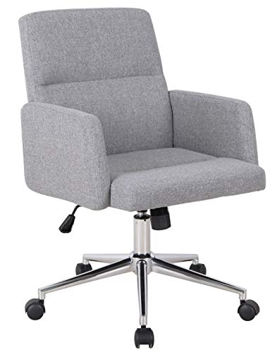 SixBros. Bürostuhl Drehstuhl Schreibtischstuhl Grau 1320L/8324