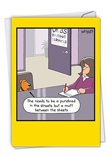 p-s-bd-whyatt2Nobleworks Single Geburtstagskarte Eltern WHYATT Geburtstag 2 Dog Dating Service Card C2658BDG