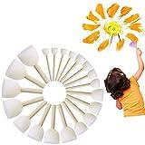 KAIMENG Runde Schwammbürste, Kinderbürste DIY Malwerkzeuge (Packung mit 20)