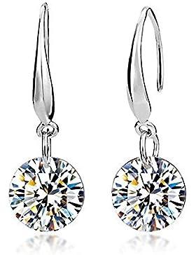 Lily Jewelry 925Sterling Silber Swarovski Elements Kristall Drop Ohrringe für Frauen