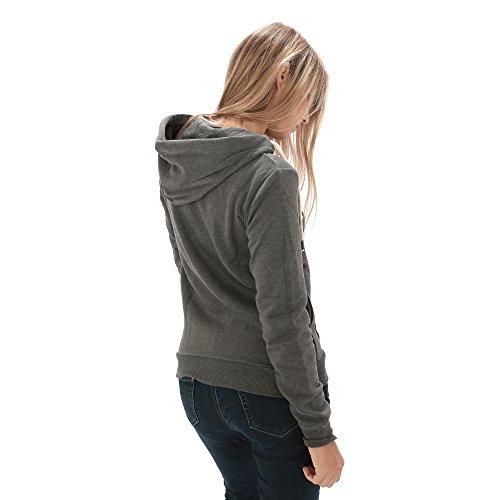 Felpa basic unisex aperta, con cappuccio restringibile, tasca frontale e logo frontale Grigio